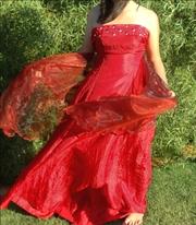 Red Designer Ball Dress