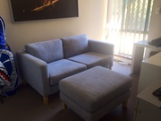 2 seater chair and ottoman