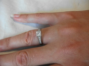 New 18 ct White Gold Diamond Engagement Ring