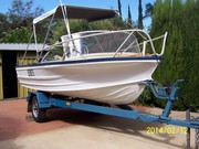 14ft quintrex boat 35hp evinrude on trailer