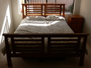 Queen Size Bed Wooden with Mattress