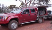 HOLDEN COLORADO 2010 TURBO DIESEL 5 SPEED MANUAL DUAL CAB WITH CANOPY
